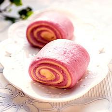 双色紫薯卷