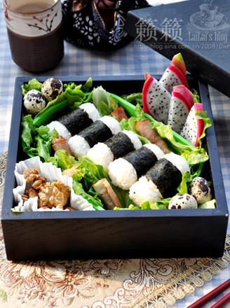 海苔饭团便当的做法