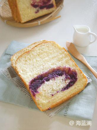 紫薯夹馅吐司