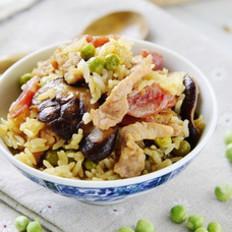 花菇豌豆焖饭