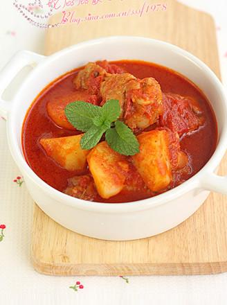 土豆番茄鸡肉