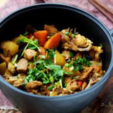 土豆萝卜炖鸡架