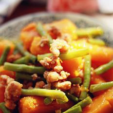 肉末豆角炖南瓜