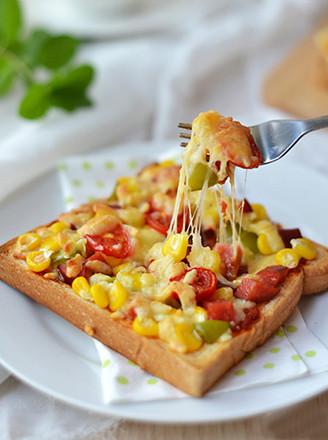 什锦吐司披萨的做法