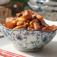 萝卜干黄豆烧肉的做法