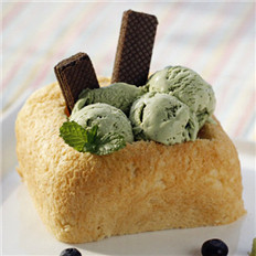 水果抹茶冰淇淋面包
