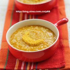 南瓜蛋黄小米粥