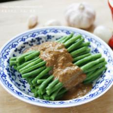 蒜蓉麻酱拌豇豆