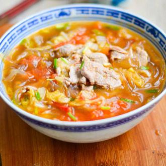 白肉片酸辣汤