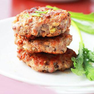 香菇煎肉饼