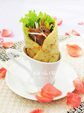 蔬菜鸭肉卷