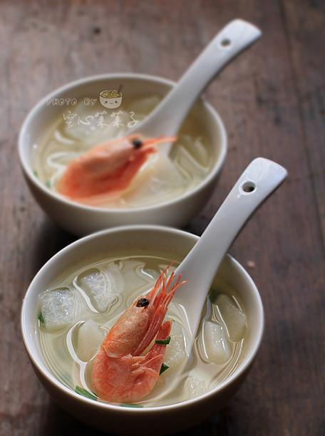 萝卜虾汤的做法