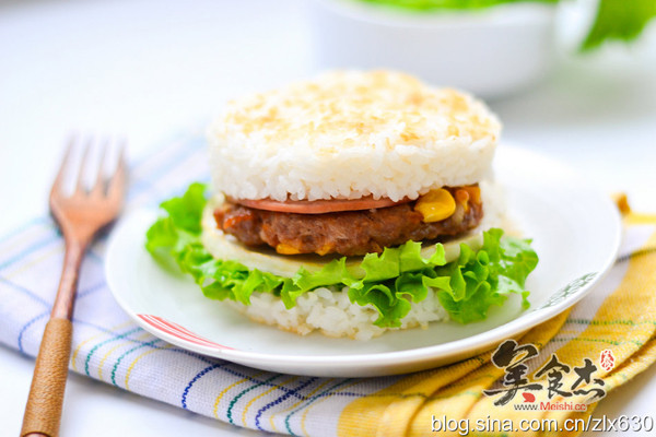 豪华版米汉堡的做法【步骤图】_菜谱_美食杰