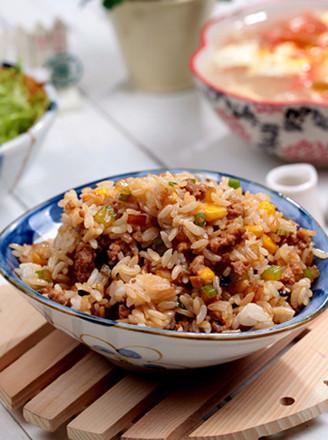香菇杂丁肉燥饭的做法