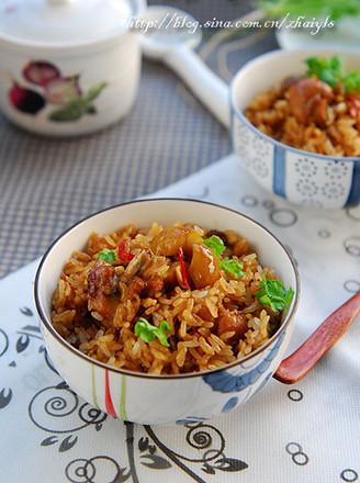 栗子焖鸡饭