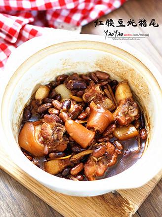 红腰豆炖猪尾的做法