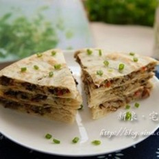 咸菜葱油饼