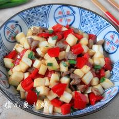 红椒炒茭白