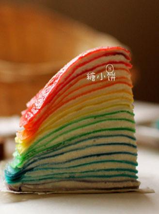 彩虹可丽饼千层的做法