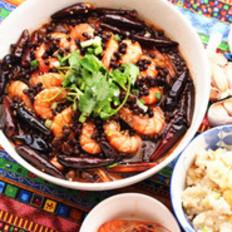 椒香茶菇虾