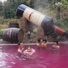 日本另类浴池 红酒咖啡任意泡