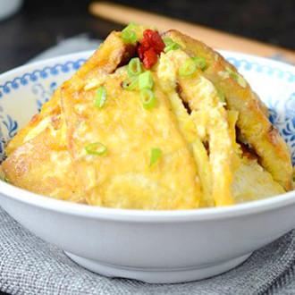 锅塌鸡汁豆腐