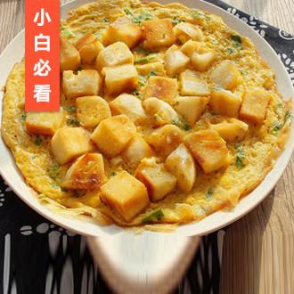 香煎馒头鸡蛋饼