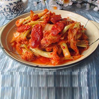 辣白菜炒花菜
