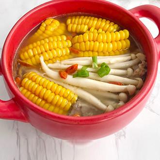 玉米菌菇汤