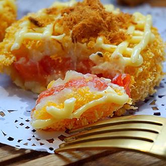 沙拉土豆茄心饼
