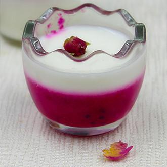 火龙果酸奶果冻