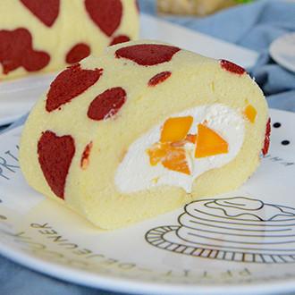 爱心芒果蛋糕卷
