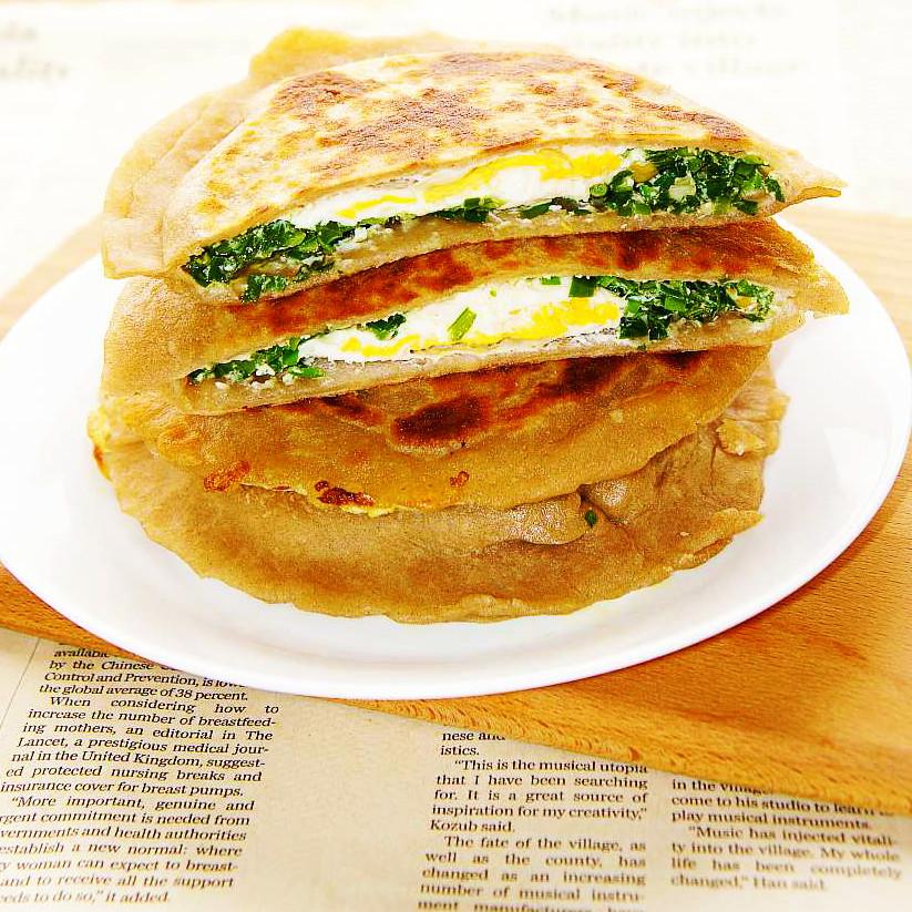 鲜美 全麦韭菜鸡蛋饼