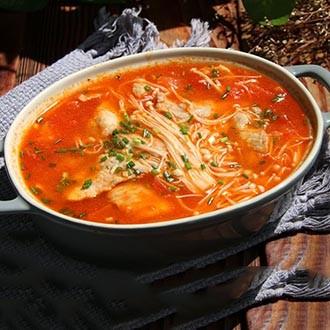 茄汁金针菇汆肉片