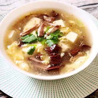 牛肉丝豆腐汤