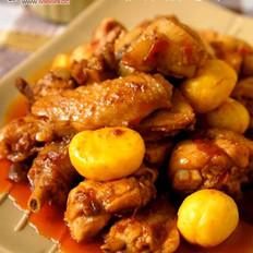 板栗红油鸡块