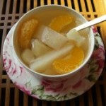 马蹄香梨橘子水