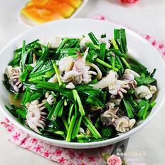 墨鱼仔炒韭菜