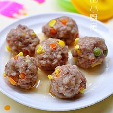 玉米蔬菜肉丸