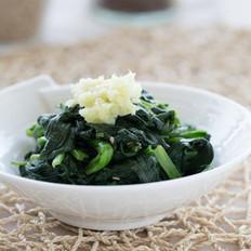 温拌姜汁菠菜