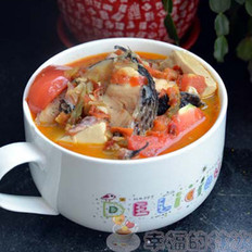 番茄豆腐炖黑鱼