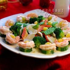 鲜蔬烩白果虾仁
