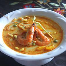 泰式咖喱鲜虾汤