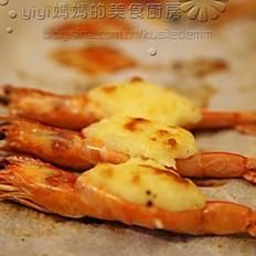 土豆泥奶酪焗大虾