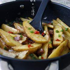 香葱火腿薯角